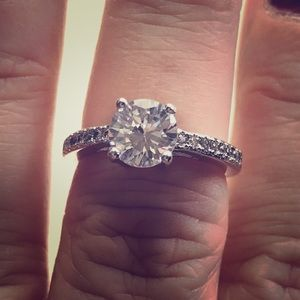 Jewelry - Platinum plated solitaire